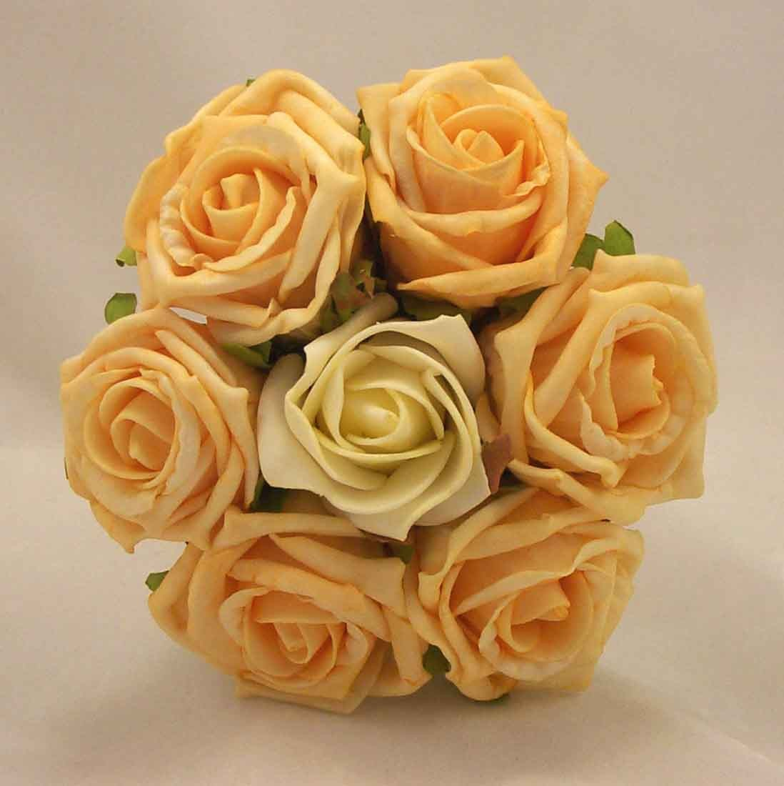 Gold & Ivory Rose Children's Posy Bouquet