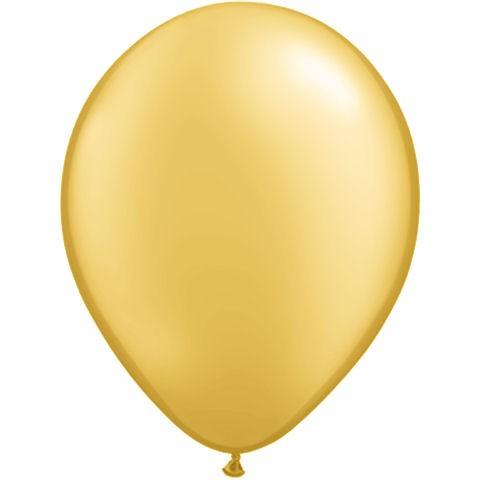50 Gold Latex Balloons