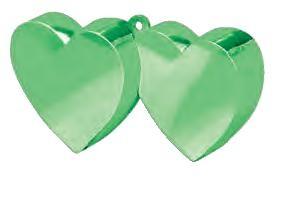 Green Double Heart Balloon Weight