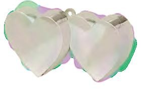Irridescent Ivory Double Heart Balloon Weight
