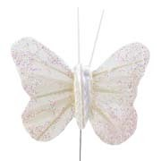 Ivory Small Feather Butterflies