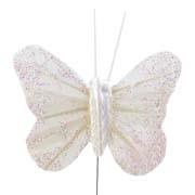Cream Small Feather Butterflies