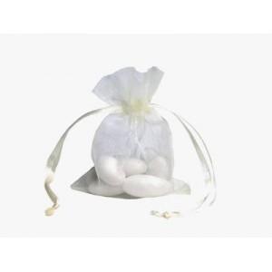 10 Cream Organza Wedding Favour Bags