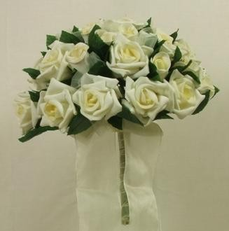 Ivory Mixed Rose Posy Bouquet