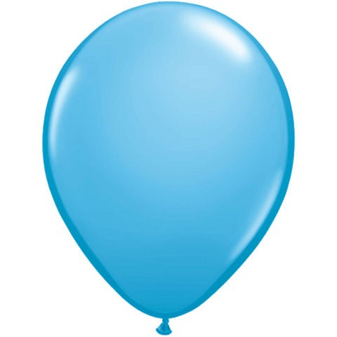 50 Light Blue Latex Balloons