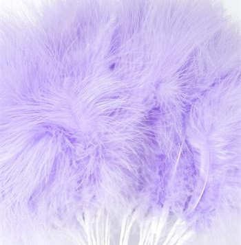 Lilac Fluff Feathers