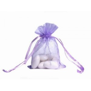10 Lilac Organza Wedding Favour Bags
