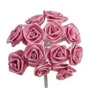 Pink Satin Ribbon Roses