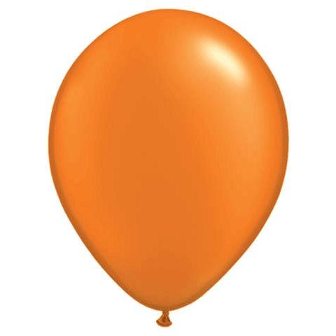 50 Orange Latex Balloons