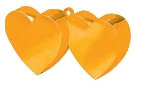 Orange Double Heart Balloon Weight
