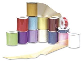 Aqua Turquoise Organza Ribbon 70mm