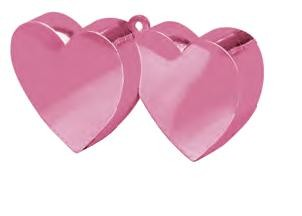 Pink Double Heart Balloon Weight