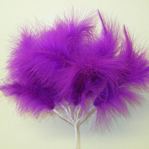 Purple Fluff Feathers