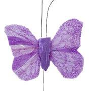 Purple Small Feather Butterflies