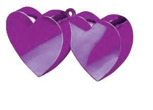 Purple Double Heart Balloon Weight