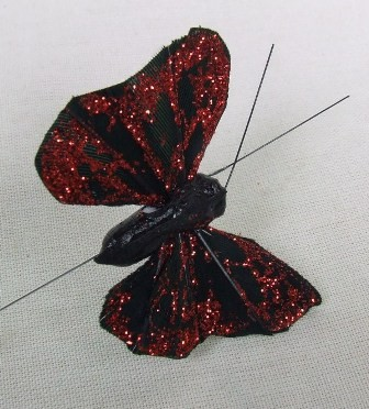 Red & Black Small Feather Butterflies