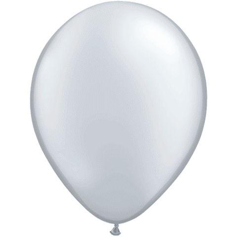 50 Silver Latex Balloons
