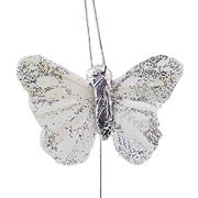 Silver Small Feather Butterflies
