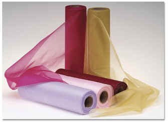 1m Sample of Organza Snow Sheer - All Colours Available