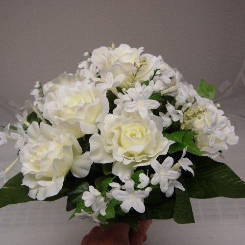 Posy bouquets cream roses and stephanotis posy bouquet silk cream roses and stephanotis posy bouquet mightylinksfo