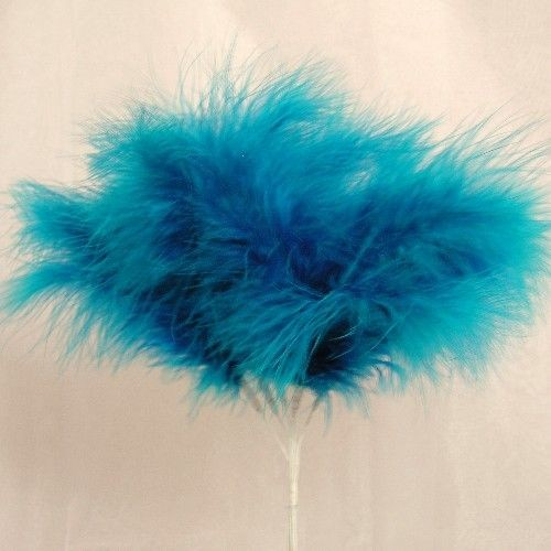 Turquoise Fluff Feathers