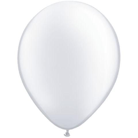 50 White Latex Balloons