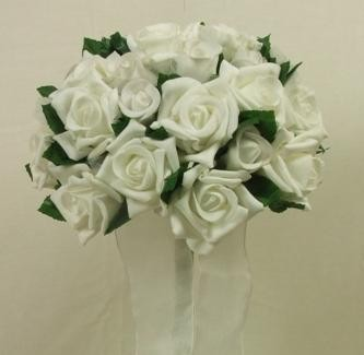 White Mixed Rose Posy Bouquet