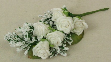 White Rose & Heather Corsage