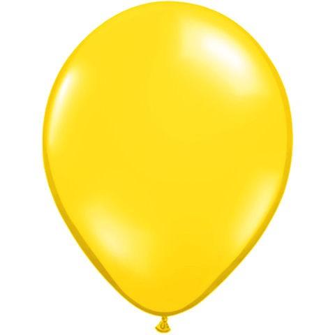 50 Yellow Latex Balloons