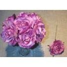 7 Lavender Luxury Silk Open Roses