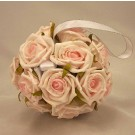 Flowergirl's Baby Pink Rose Pomander Ball