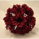 Burgundy Gerbera & Crystal Posy Bouquet