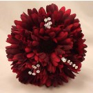 Burgundy Gerbera & Crystal Bridesmaid Bouquet