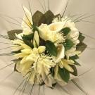Ivory Mum & Cala Lily Posy Bouquet