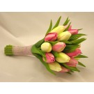 Cream & Pink Tulip Bridesmaid's Posy Bouquet
