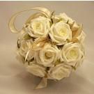 Flowergirl's Ivory Rose Pomander Ball