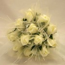 Ivory Rose Shimmer Bridesmaid Posy