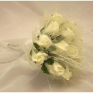 Cream Rose Shimmer Bridesmaid Posy