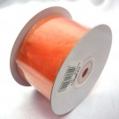 Peach Ribbon Wired Organza 75mm