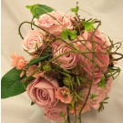 Pink Mixed Rose & Twigs Posy Bouquet