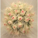 Pink Rose Shimmer Bridal Posy Bouquet