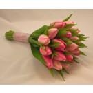 Pink Tulip Bridesmaid's Posy Bouquet