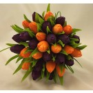 Purple & Orange Tulip Bridal Posy Bouquet