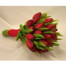 Red Tulip Bridal Posy Bouquet