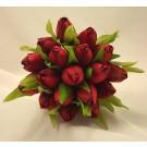 Red Tulip Bridesmaid's Posy Bouquet