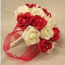 Red & Ivory Diamante Bridesmaid's Bouquet