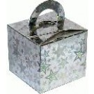 Silver Stars Balloon Weight / Favour Boxes