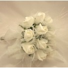 White Rose Shimmer Bridesmaid Posy