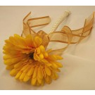 Flowergirl's Yellow & Gold Gerbera Wand