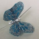 Turquoise / Aqua Small Feather Butterflies